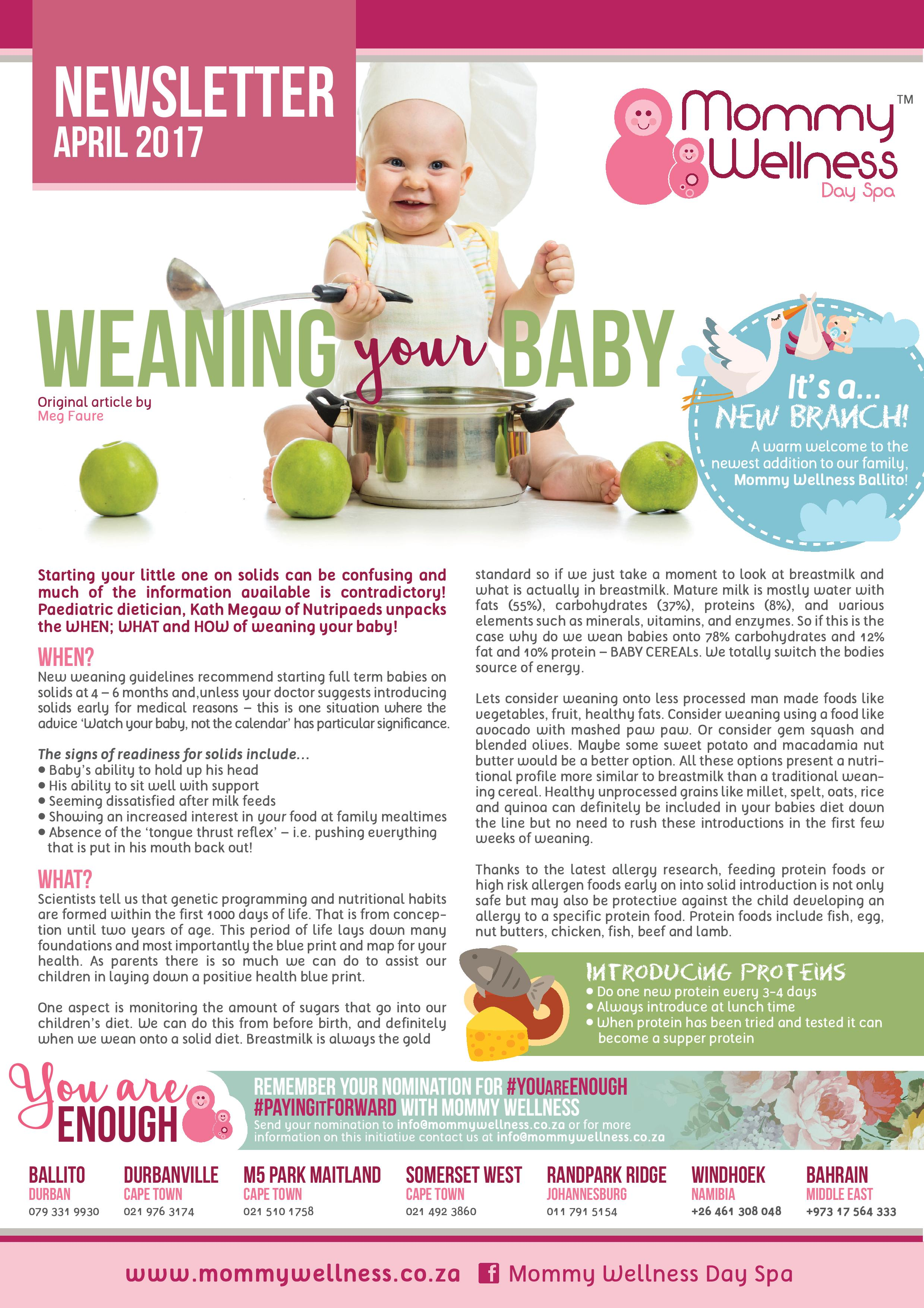 Mommy Wellness Newsletter April 2017